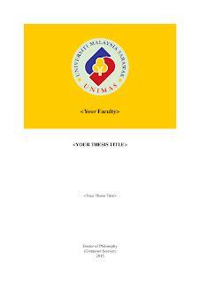 Latex dedication page thesis